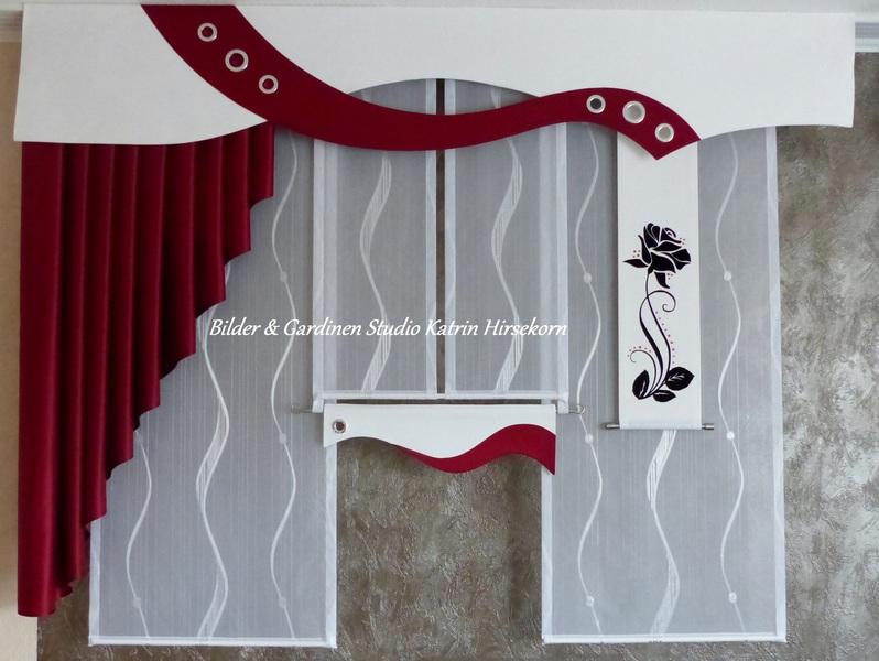 Bilder gardinen studio gardinen nach ma stores schabracken dekoschals - Querbehang wohnzimmer ...